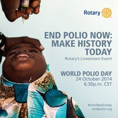 End Polio Now, Polio Eradication, 24 October, Club, Your Voice, Social Media Graphics, Rotary, Connect