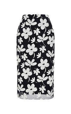 Floral-Print Silk-Blend Skirt by Marni - Moda Operandi