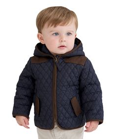 Little Youngster Navy Quilted Jacket - Infant & Toddler by Little Youngster #zulily #zulilyfinds