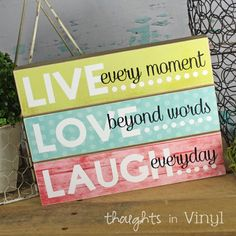 Thoughts in Vinyl | Vinyl Letters and Wooden Letters | Super Saturday Crafts