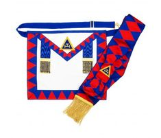 Masonic Craft Worshipful Master Regalia Apron Gole-tone Cufflinks Tie Clip Box Set Engraved Optional