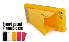 This iPhone case amplifies the volume of your music