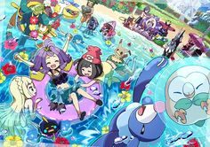 Just having fun in the sun at an Alolan Beach Party! (summer sun pool)