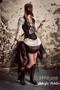 Steampunk Plague Doctor Photoshoot http://geekxgirls.com/article.php?ID=5805