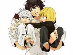 Tags: Anime, DEATH NOTE, L Lawliet, Near, Mello... I don't even know how to react...  Omg.....soooooo cute!!