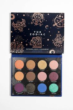 This is cool!  Kathleen Lights x ColourPop - The Zodiac Pressed Powder Eyeshadow Palette