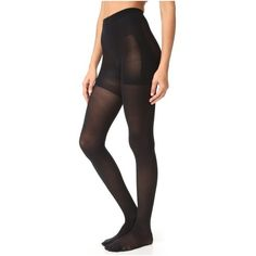 SPANX Luxe Leg Bootyfull Sheer Tights ($38) ❤ liked on Polyvore featuring intimates, hosiery, tights, very black, spanx hosiery, sheer tights, pantyhose hosiery, spanx pantyhose and pantyhose stockings