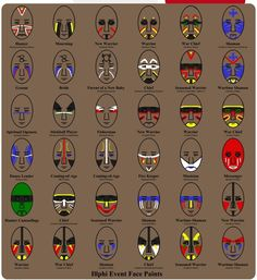Illphi event face painting from comic book Rune Masters - often mislabeled as Native American face painting meanings guide. From Ehrdipedia Wiki - Wikia Native American Face Paint, Native American Symbols, Native American Women, Native American History, American Indians, Native American Makeup, Native American Costumes, Cherokee Symbols, Native American Tattoos
