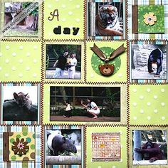 scrapbook pages for zoo - Google Search
