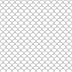 FREE printable black-and-white scallop pattern paper (-color it in your very own way and make a one-of-a-kind envelope or wrap out of it!) | #blackandwhite
