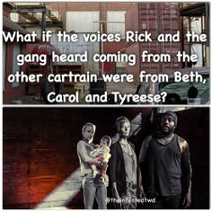What if? Maybe but possibly when rick and his group were entering the boxcar carol and tyreese heard the gun shots and saw them enter the boxcar