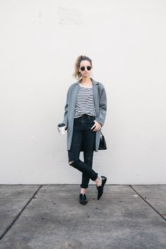 I'm obssessed with coats at the moment. And this look is perfect for a casual day.