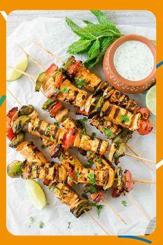 Brochette de tofu à l'indienne Paneer Tikka, Vegetarian Grilling, Grilling Recipes, Vegetarian Recipes, Healthy Recipes, Healthy Grilling, Barbecue Recipes, Barbecue Sauce, Grilled Tofu Recipes
