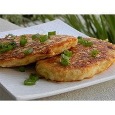 Cheesy Potato Pancakes Allrecipes.com