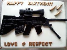sniper rifle cake