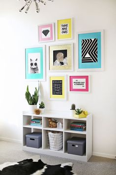 Colorful art room transformation (before + after!) Laura's art room from a beautiful mess :) Diy Home Decor Rustic, Wall Decor, Room Decor, Wall Art, Buying A New Home, Decorate Your Room, Home And Deco, My Room, Interior Design