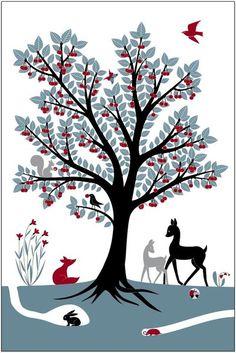 Wunderschönes Poster von der aufsteigenden Designerin Emilie Vast aus Frankreich.  Entdecken Sie die vielen Details auf dem Poster. Es wird sicher ein