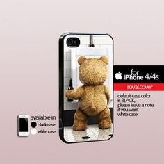 Ted The Movie Funny Bear - Print Hard Cover For iPhone 4/4S