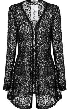 Meaneor Women's Long Sleeve Lace Crochet Bolero Hollow Sheer Knit Cardigan Top at Amazon Women's Clothing store:
