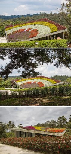 A Sloping Roof Garden Greets Visitors To This Park