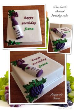 Aged to perfection- a wine bottle themed birthday cake