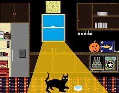 kitchen kitten with a smitten exploration disposition.