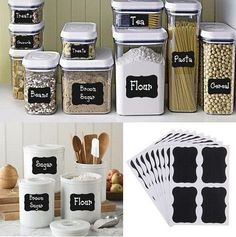 Chalk Pen Chalkboard Sticker Labels Vinyl Kitchen Jar Wall Cup Bottle Planner Mirror Decor Decals Tags 5CM X 3.5CM Size 8 Pcs