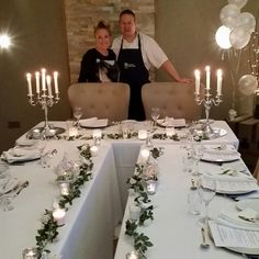All set up for Fine dining in the Nest. Gary Shapland accompanied the incredible decor with delicious food :)