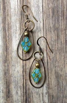 Geek Jewelry Geek Blue Earrings / Argyle Earrings / by Lammergeier