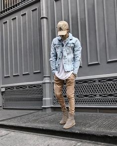 "1,076 Likes, 61 Comments - Ry (@ryriches) on Instagram: ""#sponsored don't get caught up in the hype, raw edge denim jacket, beige faux suede zippered moto…"""