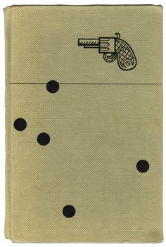 vintage book cover with a derringer / muff pistol