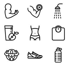 549 icon packs of exercise Gym icon Gym art Fitness icon