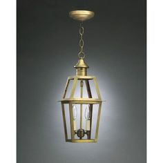 Northeast Lantern Uxbridge 2 Light Outdoor Hanging Lantern Finish: Raw Brass, Shade Type: Clear