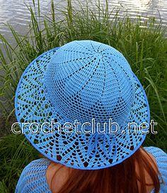 Как вязать шляпу с широкими полями. Мастер-класс и схемы по вязанию шляпы крючком