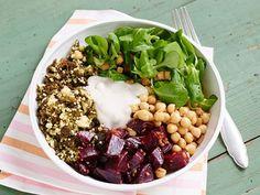 Hirse-Salat mit Kichererbsen und Roter Bete