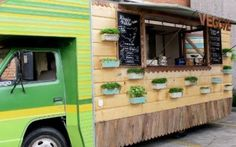 Gourmet food trucks are sprouting up in locations throughout the city. Elana Castle meets the owners of Cantina Mobil and Veggie Patch Van to discuss the design challenges and opportunities inherent in creating roving kitchens with designer credentials. Food Trucks, Vegan Food Truck, Foodtrucks Ideas, Central Food, Food Vans, Meals On Wheels, Food Truck Design, Sydney Food, Restaurants