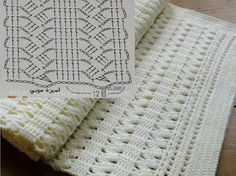 """Crochet baby blanket light and lacy stitches free pattern."", ""We knit and warm - Fair of Masters - handmade, handmade"", ""It is a w Gilet Crochet, Crochet Afghans, Baby Blanket Crochet, Knit Crochet, Baby Shawl, Crochet Bedspread, Irish Crochet, Crochet Diagram, Crochet Chart"