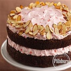 Almond Brownie-Cherry Mousse Torte from Pillsbury® Baking