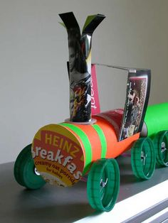 Breakfast Express - Toy Train From Toilet Roll Tubes : 7 Steps (with Pictures) - Instructables Cardboard Tube Crafts, Paper Towel Crafts, Toilet Paper Roll Crafts, Fun Crafts For Kids, Crafts To Make, Art For Kids, Arts And Crafts, Diy Crafts, Kids Fun