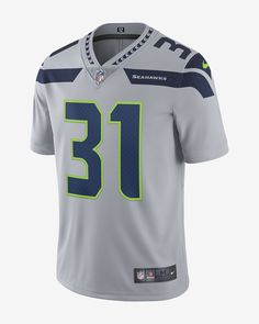 Nike Nfl Seattle Seahawks Limited Jersey (Kam Chancellor) Men's Football - 2XL Grey