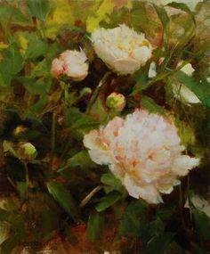 Garden Peonies, oil, Kathy Anderson