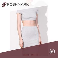 ❗️Last one❗️ Bodycon Crop top and skirt Two piece Bodycon midi skirt and crop 🌸 Material is polyester 🌸 I bundle, just ask or use the bundle feature! Boutique Dresses Midi