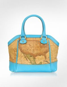 Love these leather map bags by Italian designer Alviero Martini 1A Classe Rogeo Drive - Geo Print Satchel