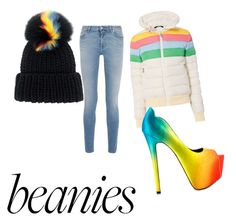 """""""rainbow beanie"""" by olivmccoy ❤ liked on Polyvore featuring Eugenia Kim, Perfect Moment, Givenchy and TaylorSays"""