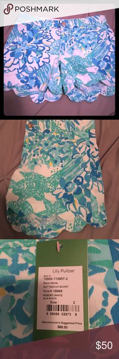 Lilly Pulitzer Buttercup Short! NWT NWT Lilly Pulitzer Buttercup short! Resort-White-In-A-Pinch! Lilly Pulitzer Shorts