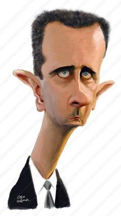Caricatura de Bashar al- Assad