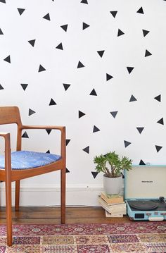 DIY Removable Triangle Wall Decals For Trendy Decor | Shelterness