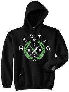 Exotic Kush Hooded Sweatshirt by Kush Friendly | KUSH Friendly