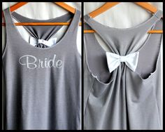 BRIDE Bridesmaid Tank top with Bow by personTen on Etsy