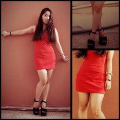 Samena Bondage Dress, Luichiny Wedge Heels Wedge Heels, Everyday Fashion, Leather Skirt, Mini Skirts, Fashion Looks, Ootd, Wedges, Blog, Inspiration